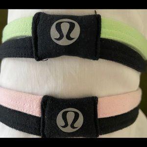 2 LuluLemon Duo-Strap Headbands